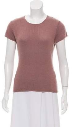 Calvin Klein Collection Cashmere Rib Knit Sweatshirt