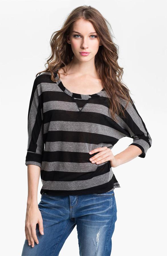 Olivia Moon Stripe Twist Neck Tunic