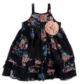 Pippa Pastourelle by & Julie Little Girl's Ruffle-Tiered Floral Dress