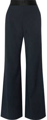Opening Ceremony - Focal Crepe Wide-leg Pants - Midnight blue $375 thestylecure.com