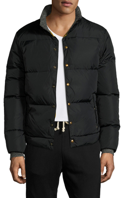 Press-Button Quilted Down Jacket $249 thestylecure.com