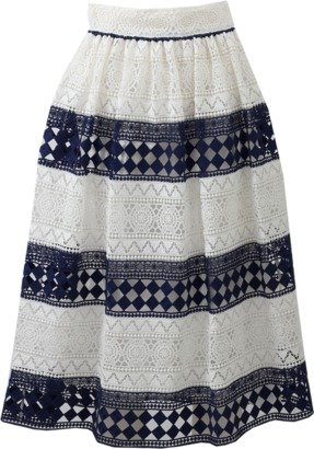PHILOSOPHY Stripe Lace Skirt $690 thestylecure.com