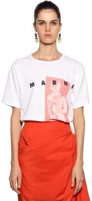 Marni (マルニ) - MARNI ロゴプリント コットンジャージーTシャツ