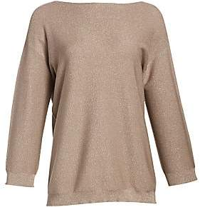 Fabiana Filippi Women's Boatneck Lurex Relaxed Knit Sweater