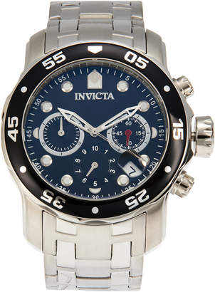 Invicta 21920 Silver-Tone & Black Pro Diver Watch