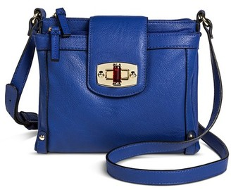 Merona Women's Solid Crossbody Faux Leather Handbag with Turnlock Closure $26.99 thestylecure.com