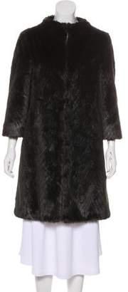 Ted Baker Faux Fur Knee-Length Coat