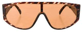 Courreges Tortoiseshell Shield Sunglasses