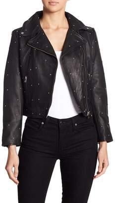 LAMARQUE Studded Leather Moto Jacket