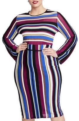 Rachel Roy RACHEL  Royal Metallic Stripe Crop Sweater