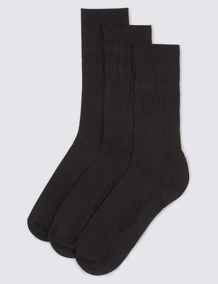 Marks and Spencer 3 Pack FreshfeetTM Gentle Grip Socks