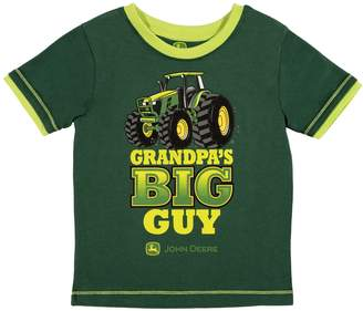 "John Deere Toddler Boy Grandpa's Big Guy"" Tractor Graphic Tee"
