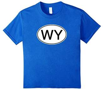 WY Wyoming Abbreviation Oval Decal Sticker T-shirt