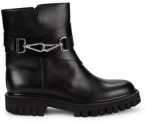 John Galliano Leather Slip-on Combat Boots