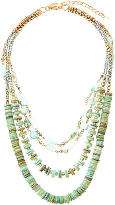 Emily and Ashley Greenbeads By Mint Multi-Strand Beaded Necklace