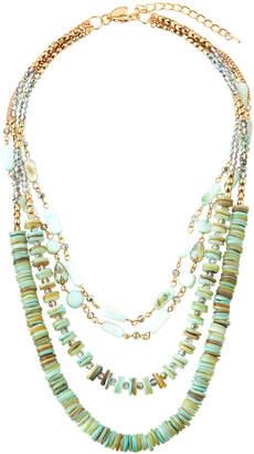 Greenbeads Mint Multi-Strand Beaded Necklace 1kNajpNR