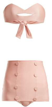 Adriana Degreas X Charlotte Olympia Kiss Hot Pant Bikini - Womens - Pink