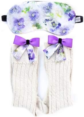 StephieAnn - Silk Bow Socks & Sleep Mask Gift Set