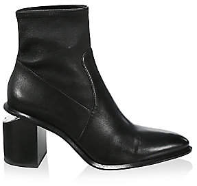 Alexander Wang Women's Anna Stretch Leather Ankle Boots