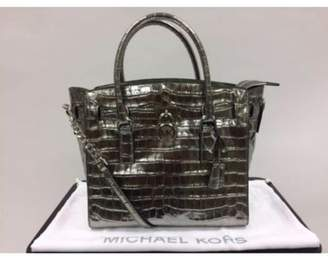 Michael Kors 30F7MHMS7K-041 Studio Hamilton Large East West Satchel - Silver Croc