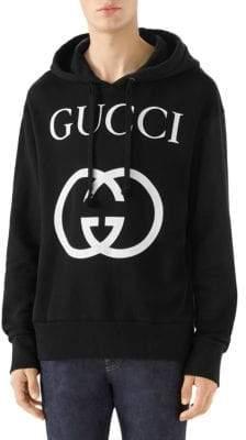 Gucci Men's Logo Sweatshirt - Natural Live Red - Size XXL