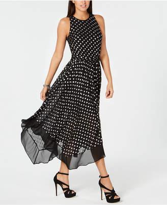 Michael Kors Printed Handkerchief-Hem Dress