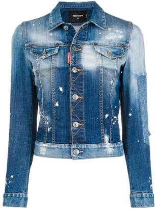 DSQUARED2 distressed denim jacket