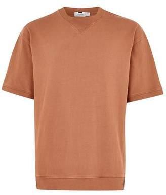 Topman Mens Orange Rust Short Sleeve Sweatshirt