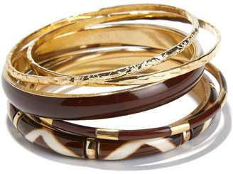 Anne Weyburn Pack of 5 Metal and Resin Bangles