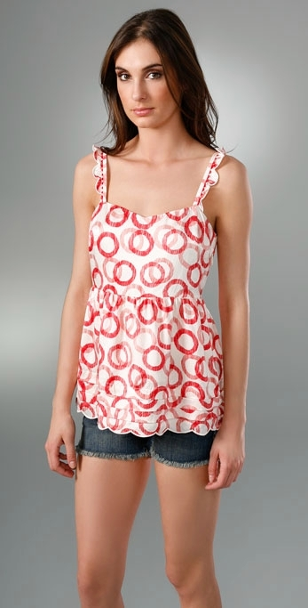 Juicy Couture Scallop Hem Date Top