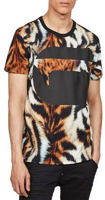 G Star Mostom Tiger Print Cotton Tee