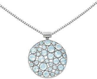 FINE JEWELRY Genuine Blue Topaz Sterling Silver Pendant Necklace