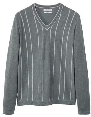 Mango man MANGO MAN Flecked striped sweater