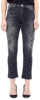 Hudson Women's Harper Baby Cropped Kick Flare Pants - Night Star, Size 29 (6-8)