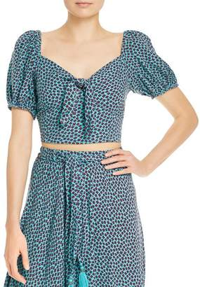 Band of Gypsies Santo Domingo Floral Cropped Top