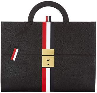 Thom Browne Trompe L'oeil Leather Briefcase