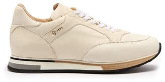 Dunhill Duke Low Top Suede Trainers - Mens - White