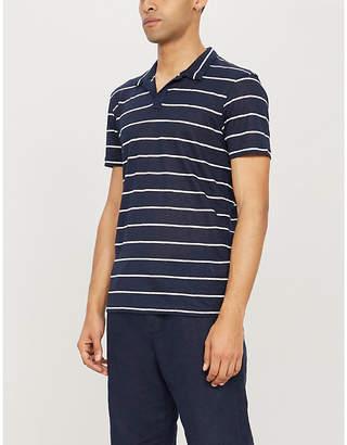 14888fcb Orlebar Brown Felix striped linen polo shirt