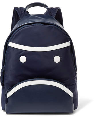 Tory Sport Grumps Appliquéd Leather And Shell Backpack - Navy