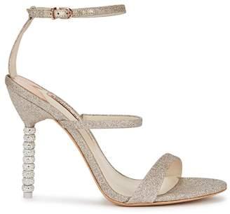 Sophia Webster Rosalind Glittered Leather Sandals