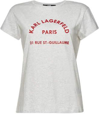 Karl Lagerfeld Paris Rue Lagerfeld Cotton T-Shirt