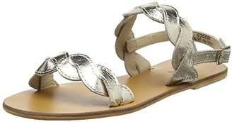Warehouse Women's Scallop Two Part Sandal Ankle Strap,38 EU