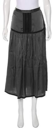 Dries Van Noten Silk Midi Skirt