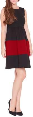 Olian 'Caroline' Colorblock Maternity Dress