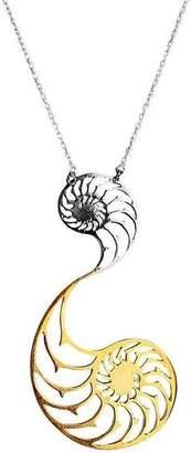 Eina Ahluwalia Nautilus Dual Necklace