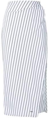 Off-White side slit striped skirt