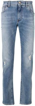 Dolce & Gabbana distressed straight-leg jeans