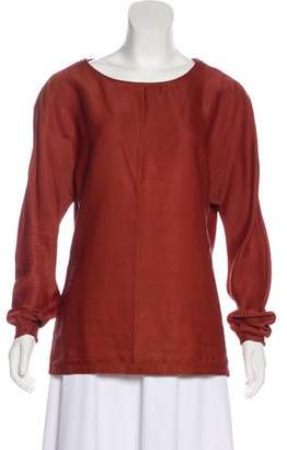 Maison Margiela Zip-Accented Long Sleeve Top