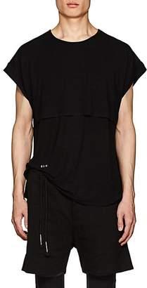 Siki Im SIKI IM MEN'S LAYERED JERSEY BAGGY T-SHIRT - BLACK SIZE XL