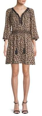 DAY Birger et Mikkelsen Kobi Halperin Animal-Print Silk Dress